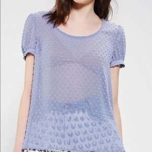 Urban Outfitters Pins & Needles Clio Dot Tulip Top